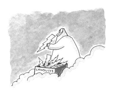 Zeus Drawing - New Yorker May 18th, 1992 by Mick Stevens