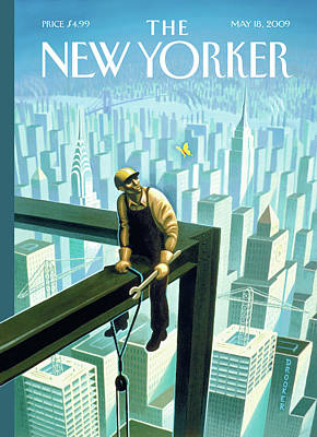 Construction Painting - New Yorker May 18th, 2009 by Eric Drooker