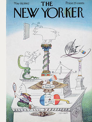 New Yorker May 19th, 1962 Art Print by Saul Steinberg