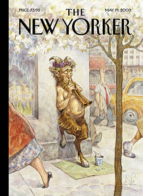 Homeless Painting - New Yorker May 19th, 2003 by Peter de Seve