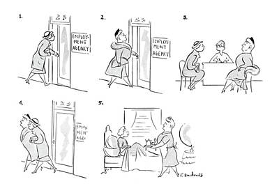 Women Together Drawing - New Yorker May 1st, 1943 by Roberta Macdonald