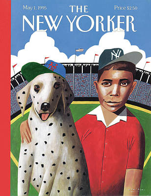 New York Mets Stadium Painting - New Yorker May 1st, 1995 by Mark Ulriksen
