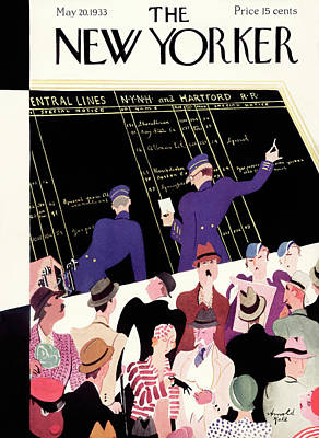 Terminal Painting - New Yorker May 20th, 1933 by Arnold Hall
