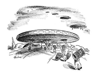 Science Fiction Drawing - New Yorker May 20th, 1950 by Alan Dunn