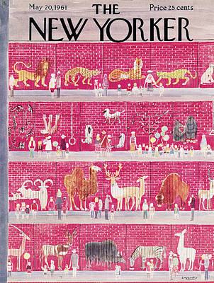 Lions And Tigers Painting - New Yorker May 20th, 1961 by Anatol Kovarsky