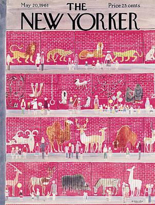 New Yorker May 20th, 1961 Art Print by Anatol Kovarsky