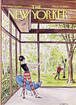 House Painting - New Yorker May 20th 1967 by Charles D Saxon
