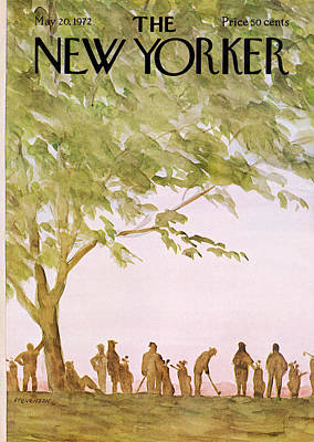 Caddy Painting - New Yorker May 20th, 1972 by James Stevenson