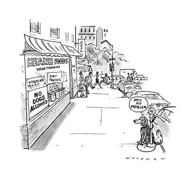 Food Stores Drawing - New Yorker May 20th, 1991 by Bill Woodman