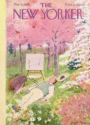 Spring Painting - New Yorker May 21st, 1949 by Garrett Price
