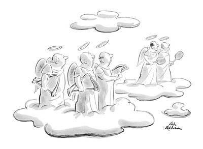 Angels Drawing - New Yorker May 21st, 1979 by Ed Fisher