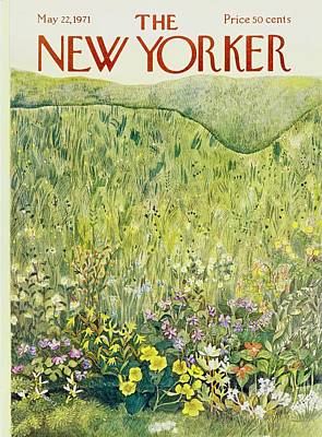 Natural World Painting - New Yorker May 22nd 1971 by Ilonka Karasz