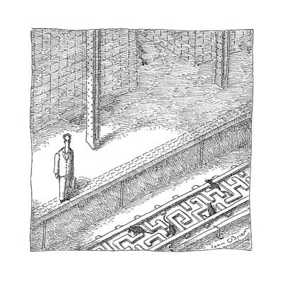 Maze Drawing - New Yorker May 22nd, 2017 by John O'Brien