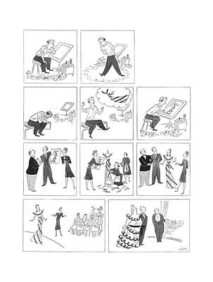 Production Drawing - New Yorker May 23rd, 1942 by Constantin Alajalov