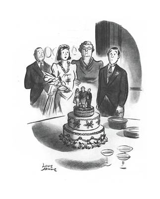 Family Love Drawing - New Yorker May 24th, 1941 by Louis Jamme