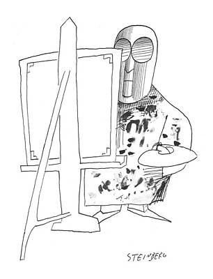 Splatter Drawing - New Yorker May 24th, 1958 by Saul Steinberg