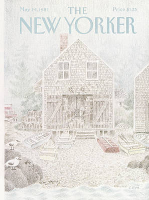 Shed Painting - New Yorker May 24th, 1982 by Charles E. Martin