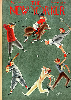 Golf Painting - New Yorker May 25th, 1935 by Constantin Alajalov