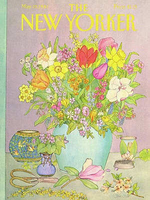 Spring Painting - New Yorker May 25th, 1981 by Jenni Oliver