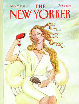 Girl Painting - New Yorker May 25th, 1992 by Susan Davis