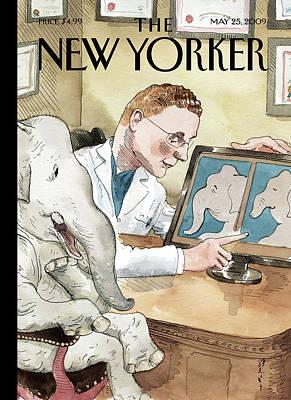 Barry Blitt Painting - New Yorker May 25th, 2009 by Barry Blitt