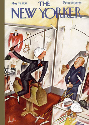 Shopping Painting - New Yorker May 26th, 1934 by Constantin Alajalov