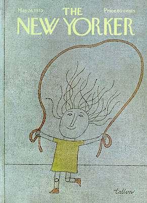 Yellow Dress Painting - New Yorker May 26th, 1975 by Robert Tallon