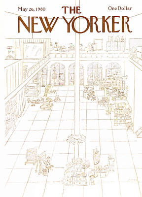 1980 Painting - New Yorker May 26th, 1980 by Charles E. Martin
