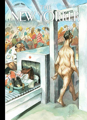 Terrorism Painting - New Yorker May 26th, 2008 by Peter de Seve