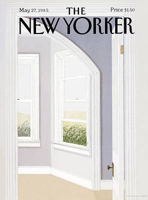 Open Windows Painting - New Yorker May 27th, 1985 by Gretchen Dow Simpson