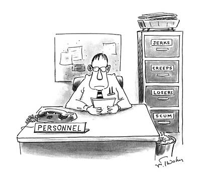 File Cabinets Drawing - New Yorker May 27th, 1996 by Mike Twohy
