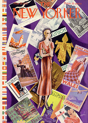 Postcard Painting - New Yorker May 28th, 1932 by Constantin Alajalov