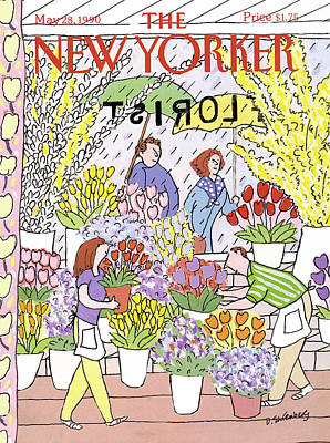 Of Rain Painting - New Yorker May 28th, 1990 by Devera Ehrenberg