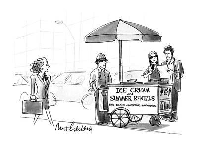 Hamptons Drawing - New Yorker May 28th, 1990 by Mort Gerberg