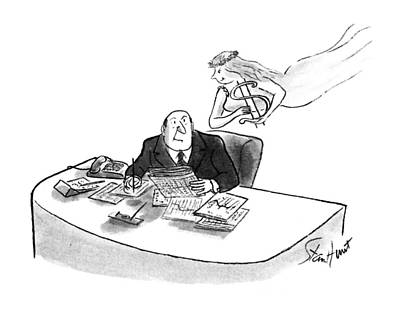 Inspire Drawing - New Yorker May 28th, 1990 by Stan Hunt