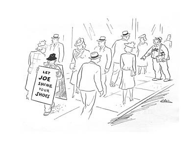 Sandwich Drawing - New Yorker May 29th, 1943 by  Alain