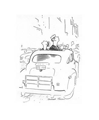 Driving Out Drawing - New Yorker May 29th, 1943 by Garrett Price