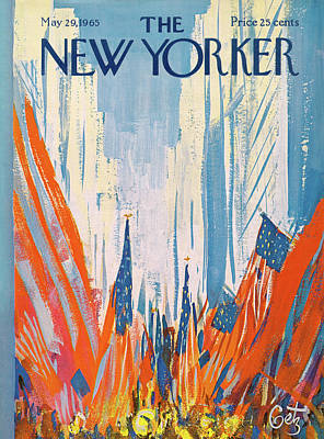 Streamer Painting - New Yorker May 29th, 1965 by Arthur Getz