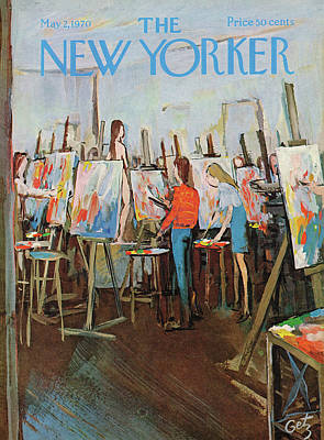 Education Painting - New Yorker May 2nd, 1970 by Arthur Getz