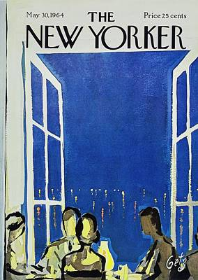 Sea Food Painting - New Yorker May 30th 1964 by Arthur Getz