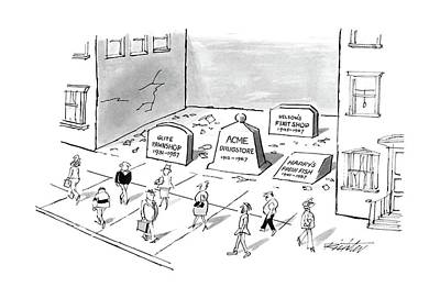 Building Blocks Drawing - New Yorker May 30th, 1988 by Mischa Richter