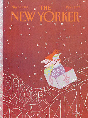 Roller Coaster Painting - New Yorker May 31st, 1982 by William Steig