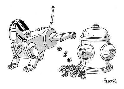 Nuts And Bolts Drawing - New Yorker May 31st, 1999 by Jack Ziegler