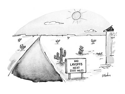 New Yorker May 3rd, 1993 Art Print by Dana Fradon