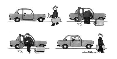 Window Signs Drawing - New Yorker May 3rd, 1993 by J.B. Handelsman