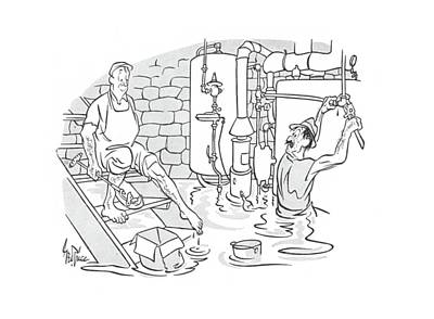 Plumber Drawing - New Yorker May 4th, 1940 by George Price
