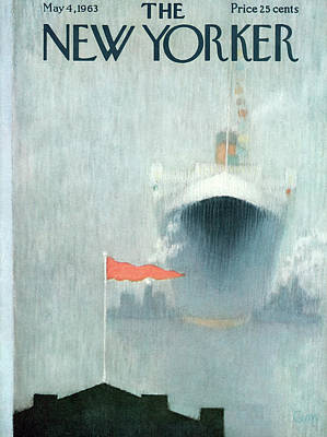 Flag Painting - New Yorker May 4th, 1963 by Charles E. Martin