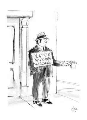 Worn Drawing - New Yorker May 4th, 1987 by Everett Opie