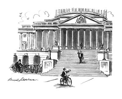 Capitol Building Drawing - New Yorker May 4th, 1992 by Bernard Schoenbaum