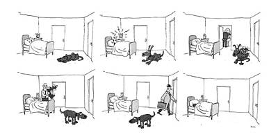 Dogs Drawing - New Yorker May 5th, 1986 by George Booth